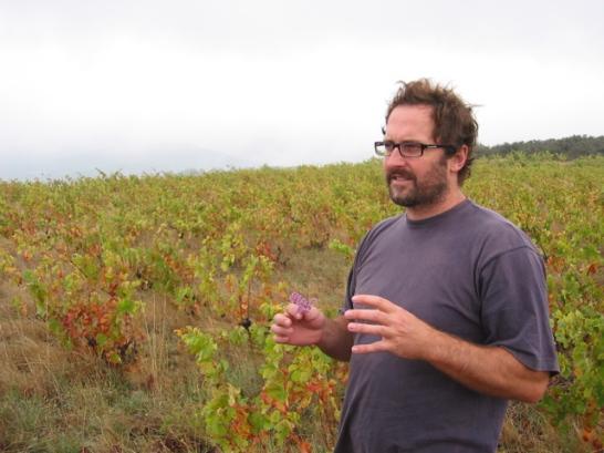 Tom Lubbe dans ses vignes centenaires