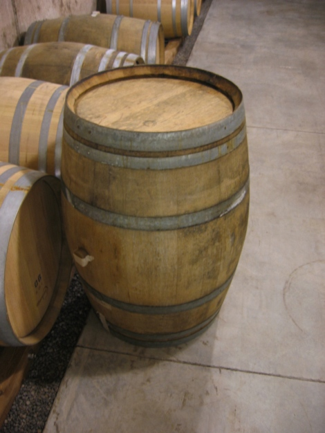 The older Dargaud and Jaegle barrel I picked for the Closson Chase chardonnay from the Western end of the South Clos, which I'll be following from grape to finished wine, over the coming months..